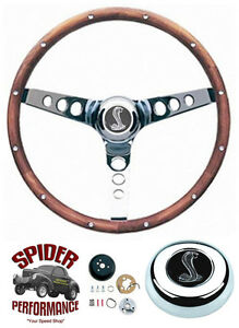 1965 1969 Mustang Steering Wheel Cobra 13 1 2 Classic Walnut