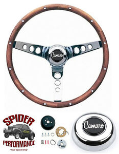 1969 1994 Camaro Steering Wheel 13 1 2 Walnut Grant Steering Wheel