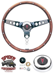 1967 1968 Gto Tempest Lemans Steering Wheel 13 1 2 Classic Walnut Grant Wheel