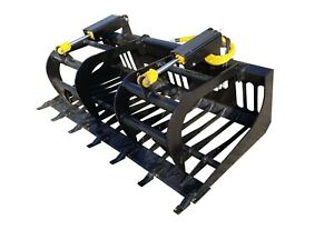 66 E series Bobcat Rock Grapple Skidsteer Attachment Universal Quick Attach