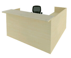 Cherryman Amber L shape Reception Desk W 2 Pedestals Of Drawers