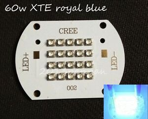 Cree Xlamp Xt e 60w Royal Blue 450nm 455nm Led Light Dc30 34v 2a Diy
