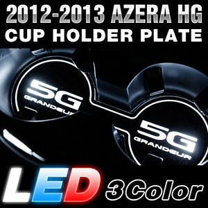Surface Emission Led Lettering Cup Holder Plate Light For Hyundai 12 16 Azera Hg