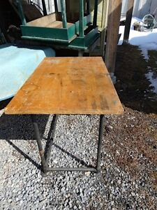 Mid Century Industrial Work Table