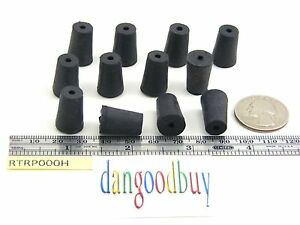 6 Rubber Stoppers Laboratory Stoppers Size 000 With Single Hole corks
