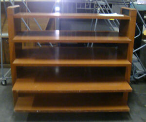 Fabulous 2 Sided Multi tiered Wooden Shelves