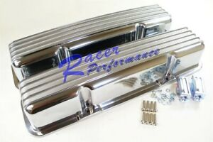 Sb Chevy Classic Tall Polish Finned Without No Holes Valve Cover 283 350 383 305