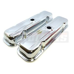 Pontiac Short Stock Valve Cover Chrome Center Hole V8 59 79 326 350 389 400 455