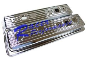 Sbc Small Block Chevy Center Bolt Chrome Valve Covers Vortec 5 0 5 7 Short 87up