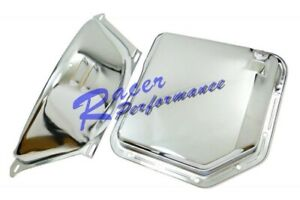 Chevy Chrome Th 350 Th350 Turbo 350 Transmission Pan Flex Plate Cover Combo V8