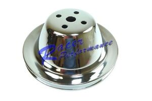 Chrome Steel Small Block Chevy Swp Upper Pulley Single 1 Groove Short Water Pump