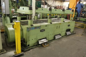Tishken 150 Ton cut a matic 8 post 4 Ram Cut Off Press 1 1 2 Stroke