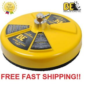 New Be Pressure 14 Whirl a way Flat Surface Concrete Cleaner Part 85 403 014