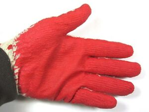 Lot Of 100 Pair Latex Coating Cotton Work Gloves