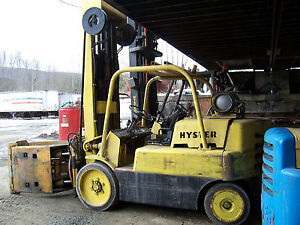 Used Hyster S125a 12 500 Pound Capacity Forklift W Rotating Roll