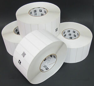 4 X Zebra Z select 4000t 3 5 X 1 Removable Thermal Transfer Labels 5219 Roll