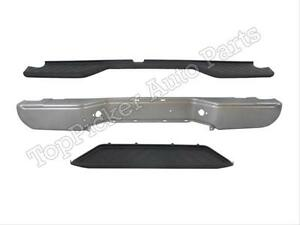 For 2005 2006 Frontier Rear Bumper Face Bar Silver Top Lower center Pad 3pcs