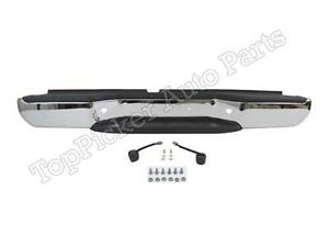 For 2005 2013 Frontier Rear Step Bumper Chrome Assy W hitch Pad Bracket Lamp