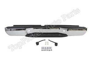 For 2005 2018 Frontier Rear Step Bumper Chrome Assy W hitch Pad Bracket Lamp