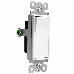 Enerlites 91150 Decorator Rocker Paddle Switch Single Pole 15a 100 Pack