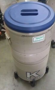 Taylor Wharton Liquid Nitrogen Cryogenic 3k Storage Tank W Wheels Racks