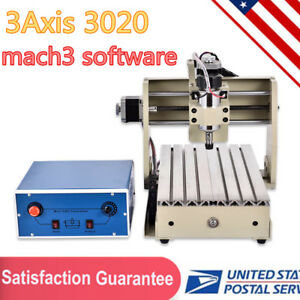 300w Cnc Router 3 Axis 3020t Engraver Engraving drilling milling Machine Cutter