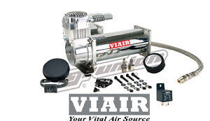 Viair Single Compressor 444 W 40 Amp Relay Custom Air Suspension Train Horns