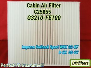 C25855 For Impreza Outback Sport Wrx 02 07 9 2x 05 07 Cabin Air Filter