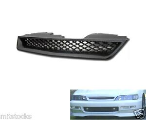 94 95 96 97 Honda Accord Type r Abs Black Front Hood Mesh Grill Grille 1994 1997