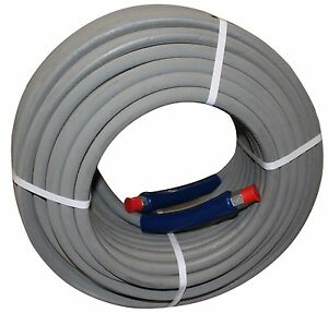 200 Ft 3 8 Gray Non marking 6000 Psi Pressure Washer Hose Hot Water Steam 200