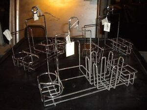 Lot 3 Chrome Table top Sauce Caddies Great For Indian Restaurant Must Sell