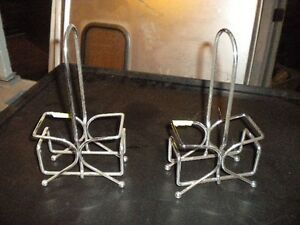 Lot 2 Chrome Table top Sauce Caddie For Any Bar Restaurant Need This Sold