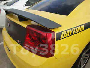 2006 2010 Dodge Charger Srt Spoiler In Matte Black Finish Mtb Painted Wing
