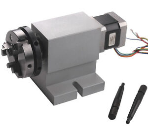 Cnc Rotational Rotary Axis A axis 4th axis 63mm Chuck Harmonic Reducing Gear Box