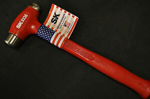 Sk 9336 36 Oz Hot Cast Dead Blow Ball Peen Hammer 1 25 Face Dia 13 00 Made Usa