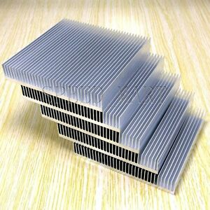 5pcs Cooling Fin Heat Sink For Pcb Led Memory Chip Ic Radiator 90mm 90mm 15mm
