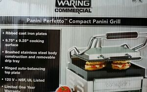 Waring Commercial Panini Perfetto tm Compact Panini Grill