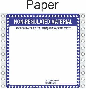 Non Regulated Material Paper Labels Hwl276p pack Of 500
