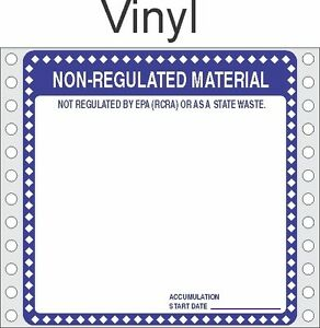 Non Regulated Material Vinyl Labels Hwl276v pack Of 500