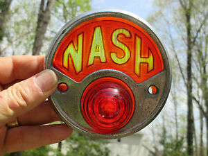 Nash Tail Light 1919 20 21 22 23 24 25 26 27 28 1929 Vintage Antique