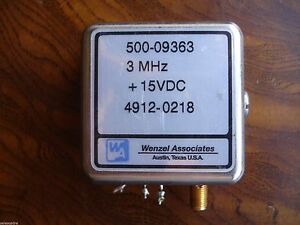 Wenzel Associates Quartz Oscillator 500 09363 3 Mhz 15vdc Guaranteed