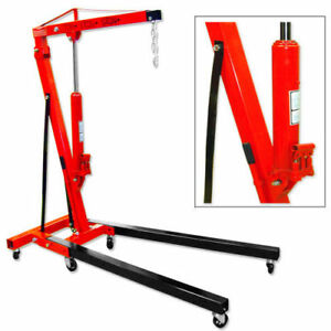 2 Ton Double Pump Folding Cherry Picker Hydraulic Engine Motor Hoist
