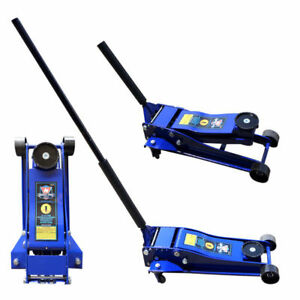 3 5 Ton Hydraulic Floor Jack Double Plunger Low Profile Light Weight