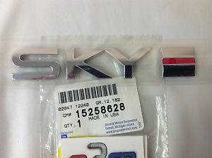 2007 2010 Saturn Sky Rear Deck Lid Chrome Sky Red Line Emblem New Oem 15258628
