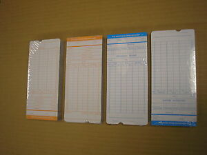 100 Pcs Weekly Monthly Time Clock Cards Attendance Payroll Recorder Timecard