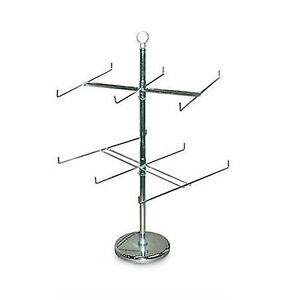 Retail Store Display Hanging Counter Top Spinner Rack 2 tier Wire 25 h