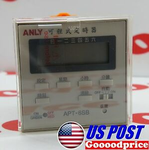 Anly Weekly Programmable Timer Apt 6sb Lcd Display Ac dc 240v Nib fast Shipping