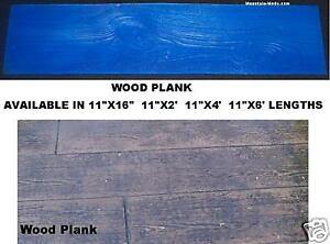 2 Rigid Wood Plank Woodgrain Decorative Concrete Cement Stamp Mat Vertical New