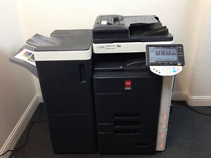 Oce Cm4521 Color Copier Printer Scanner With Network Fax Finisher Low Use 193k
