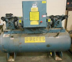 Curtis toledo Air Compressor Model Es 10 20in X 66in 80 Gallon 17821lr